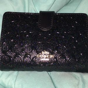 Black sparkle Coach wallet